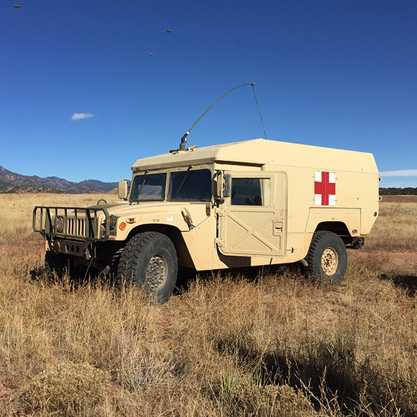 medical vehicle in field