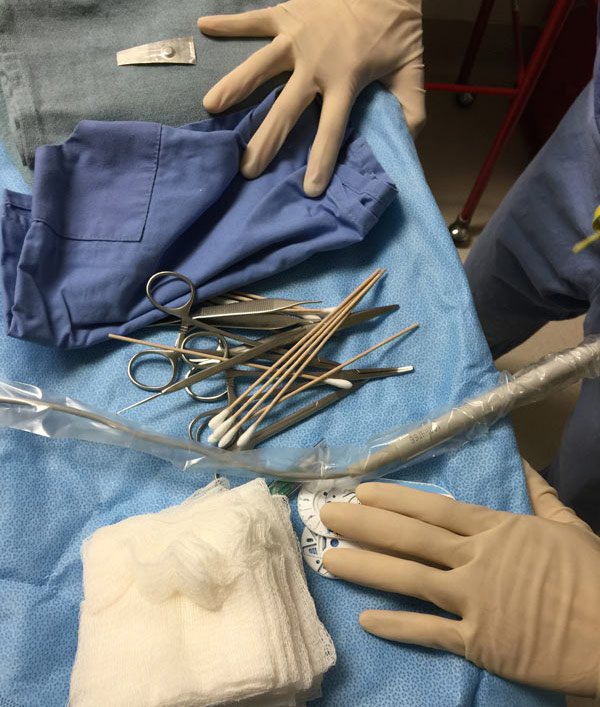 surgical tools on a table