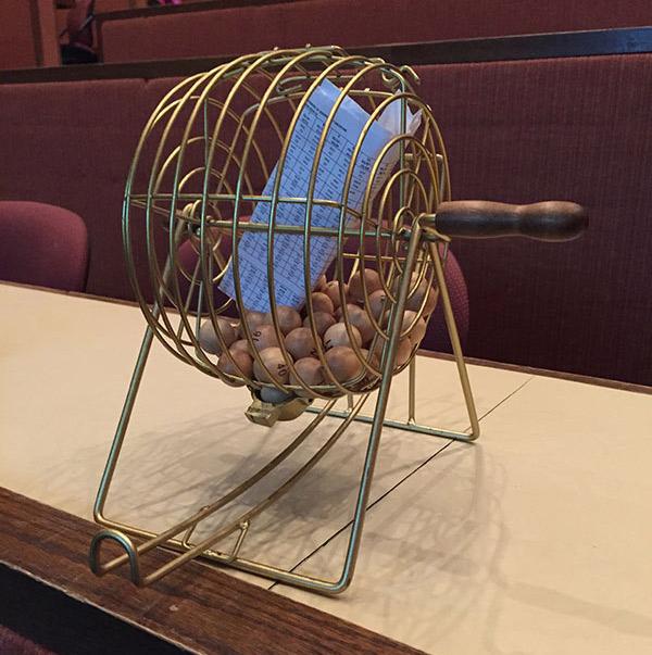 lottery balls in wheel