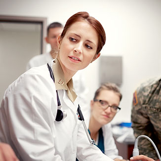 Military medical professionals enjoy a range of benefits.